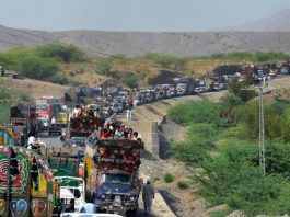People Migrating from North Waziristan